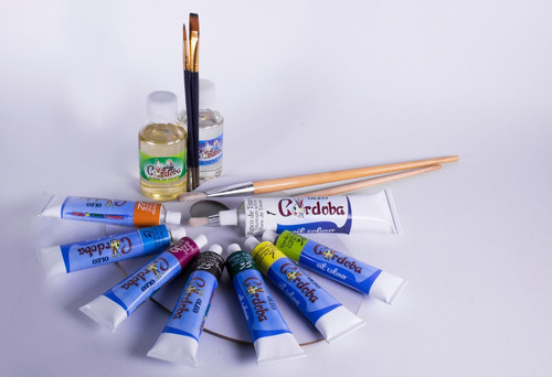oleo córdoba - tubo pinturas oleo colores  50ml x  unidad