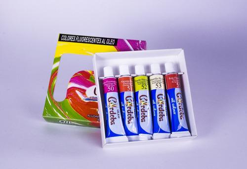 oleo córdoba - tubo pinturas oleo set surtido fluorescentes