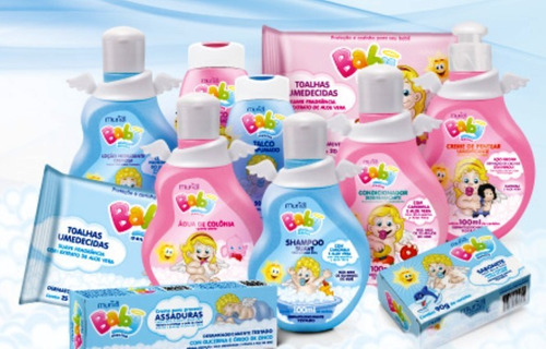 óleo corporal muriel para bebê menina infantil baby 100ml