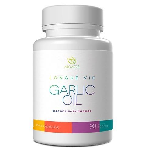 Óleo De Alho Antibiótico Longue Vie Garlic Oil Akmos 60 Cáps