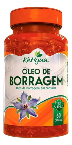 óleo de borragem 1000mg 60 cápsulas - katigua