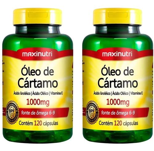 óleo de cártamo - 60 cápsulas - maxinutri