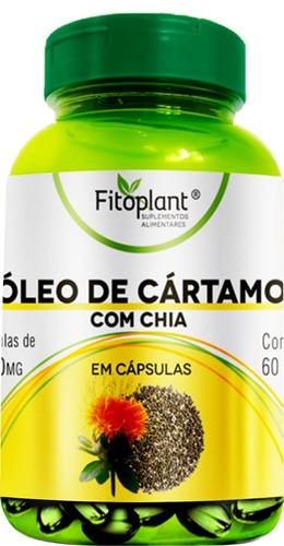 óleo de cartamo c/ chia 60 cápsulas 1000mg caixa c/ 6 potes