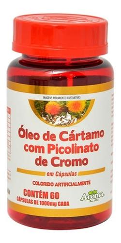 óleo de cártamo com picolinato de cromo - 60 cápsulas