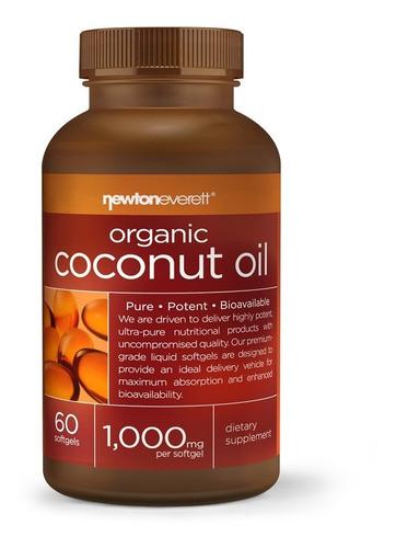 óleo de côco orgânico importado (1000mg por dose) - 60 caps