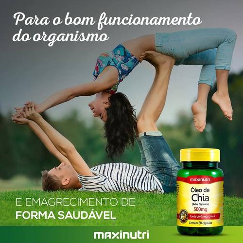 óleo de chia 500mg - maxinutri - 60 cápsulas # emagrecimento