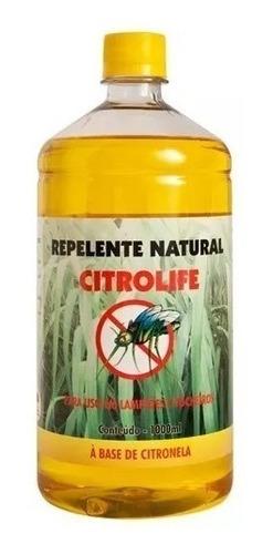 óleo de citronela p/ tochas lampiões lamparinas repelente 1l