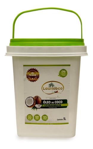 óleo de coco 100% extra virgem 1 balde  x 5 litros premium