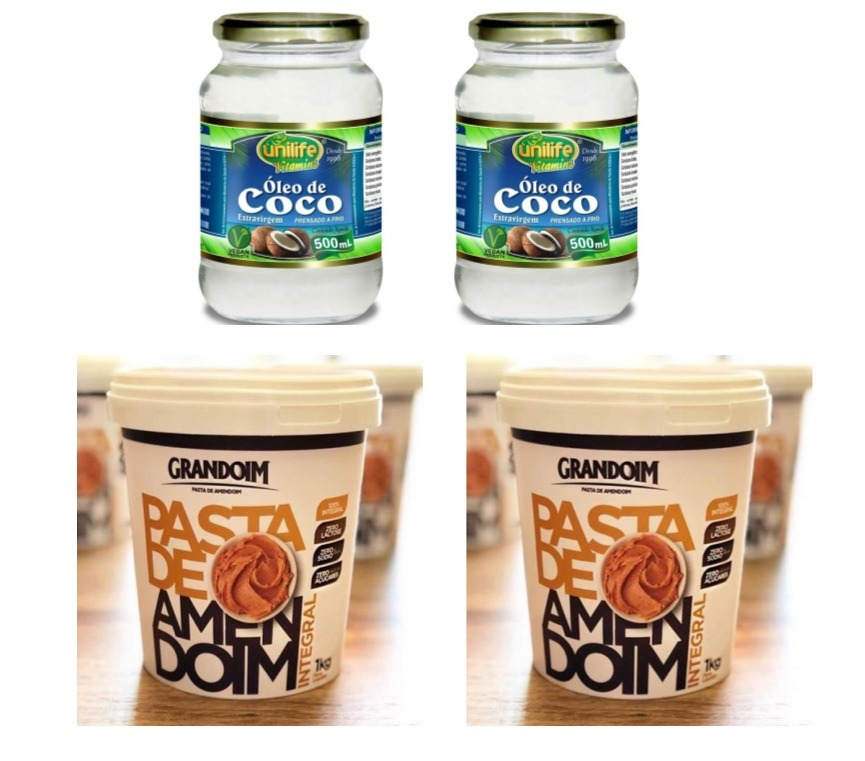 b994a9f94 oleo de coco 500ml + pasta de amendoin 1kg kit com 4 uni. Carregando zoom.