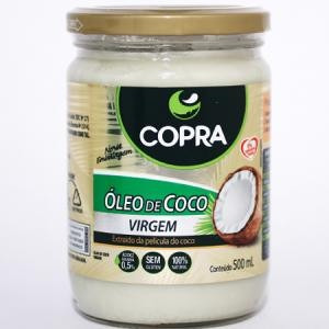 óleo de coco copra 500ml virgem 100% natural