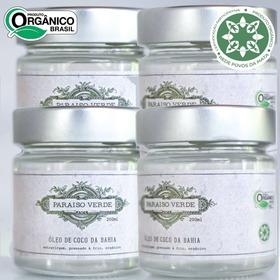 Óleo De Coco Da Bahia Extravirgem Orgânico Paraiso Verde 4un