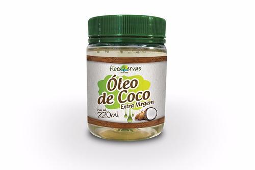 óleo de coco extra virgem - 220ml - flora 7 ervas