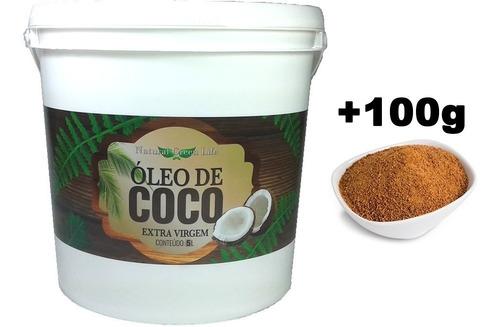 óleo de coco extra virgem - 5 litros + açúcar de coco