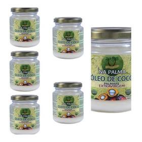 Óleo De Coco Na Palma Palmiste 100% Natural 6 Potes De 200ml