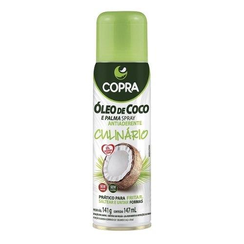 óleo de coco spray culinária antiaderente - copra