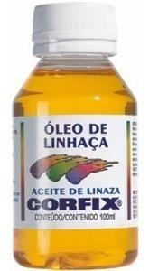 óleo de linhaça + terebintina + secante 100ml *frete+barato*