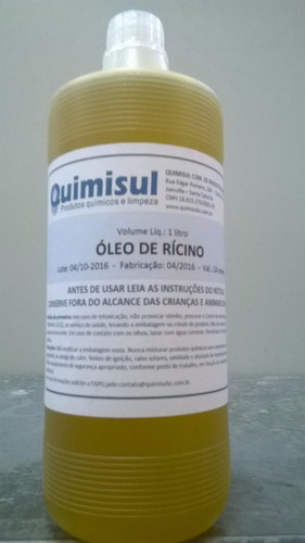 óleo de mamona /rícino 5 frascos de 1 litro cada
