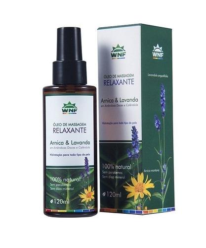 óleo de massagem relaxante wnf 120ml