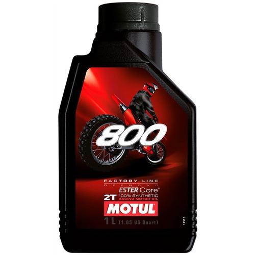óleo de motor 2t motul 800 factory line 100% sintético 1 lit