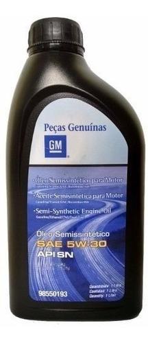 oleo de motor original gm 5w30 semi-sintetico  98550193