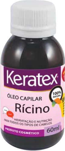 óleo de rícino keratex 100% natural 60 ml