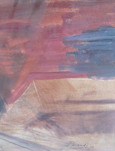 óleo de roberto parodi, antes y después, 100x80 cm.