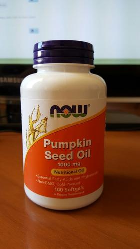 oléo de semente de abóbora 1000mg importado - 100 softgels
