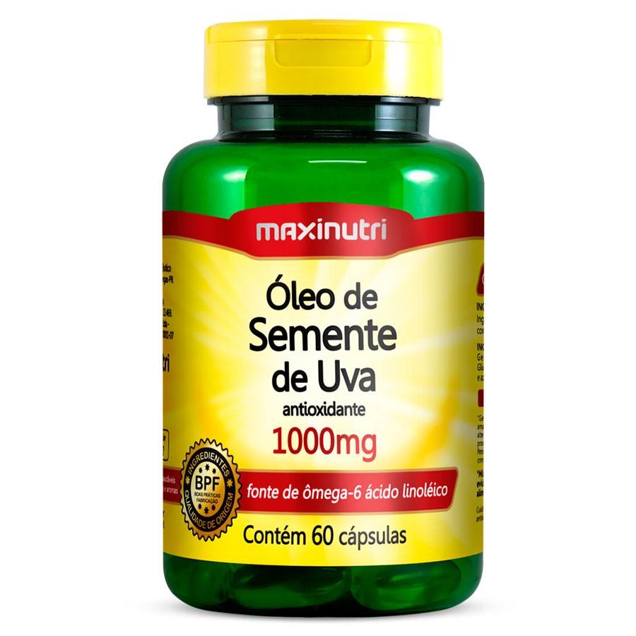933d7f5c5 óleo de semente de uva - 1000mg - maxinutri - 60 cápsulas. Carregando zoom.