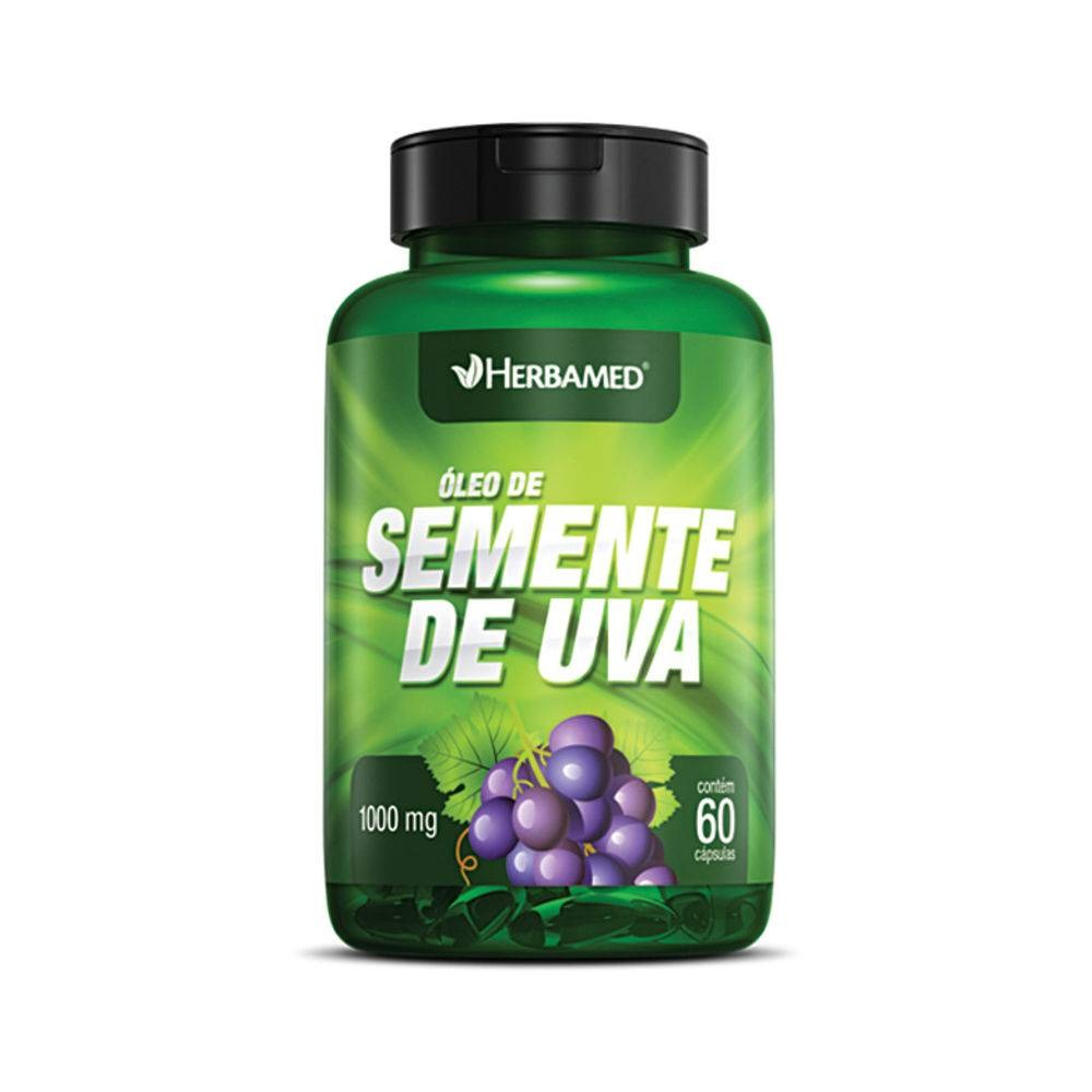 ad5ec346c Óleo De Semente De Uva 60 Cápsulas 1000mg Herbamed - R  25