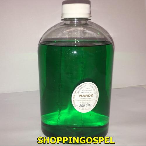 óleo de unção frasco com 1 litro fragância nardo original