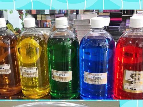 óleo de unção kit com 5 unidades de 1 litro - frete grátis