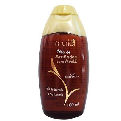 óleo desodorante corporal muriel amêndoa com avelã 100 ml.