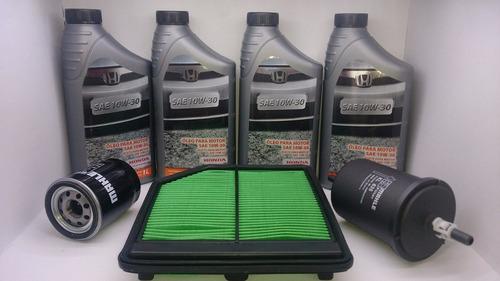 óleo e filtros honda new civic 1.8 16v  kit 4 lts + filtros
