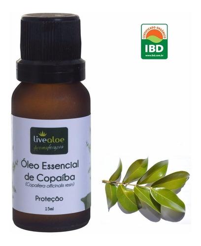 óleo essencial de copaíba live aloe massagem e aromaterapia