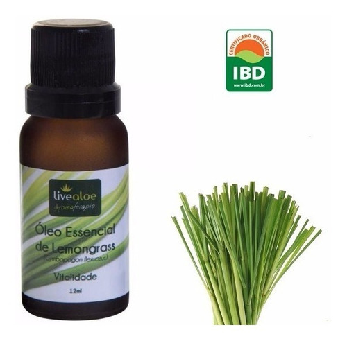 óleo essencial de lemongrass superconcentrado live aloe