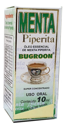 oleo essencial menta piperita 10ml original - bugroon