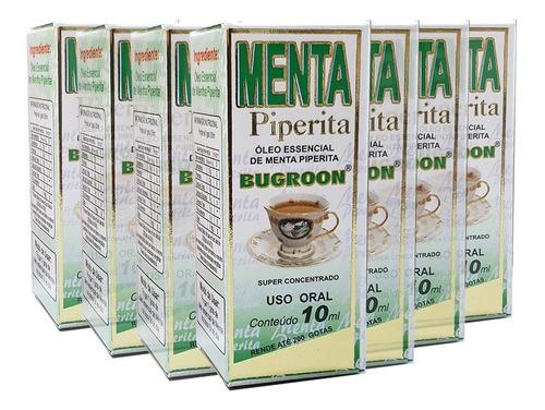 oleo essencial menta piperita hortelã 7 x 10ml - bugroon