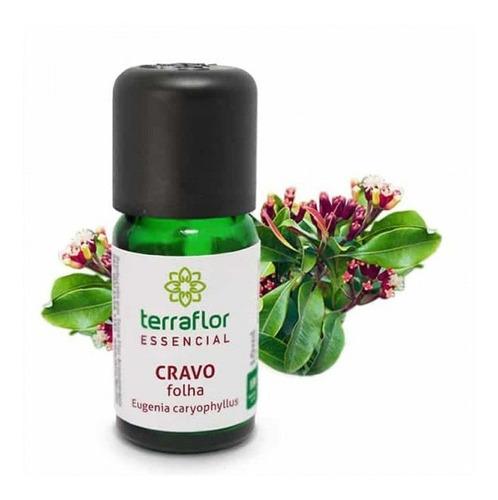 óleo essencial natural de cravo folha - terra flor - 10ml