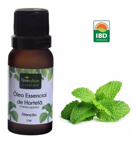 oleo essêncial hortelã  livealoe p/ massagem e aromaterapia