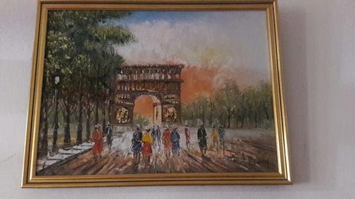 óleo francés cuadro enmarcado