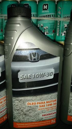 óleo honda sae 10w-30  kit 04 lts - original base mineral
