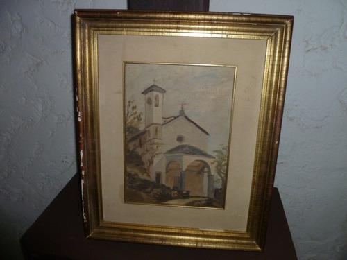 oleo italiano iglesia  de cicilia.......52x42