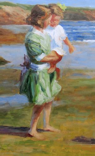 oleo john harper  frente al mar