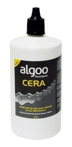 óleo lubrificante algoo lube cera 200ml mtb speed ecologico
