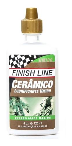 óleo lubrificante finish line cerâmico 120ml úmido corrente