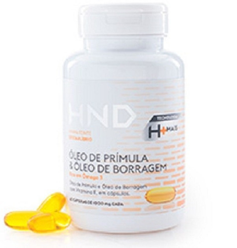 óleo ômega 3 + óleo prímula & borragem  120 cápsulas - hnd