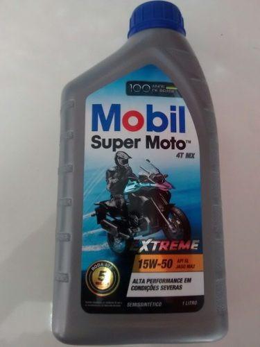 óleo mobil super moto 4t mx 15w50 extreme 3unid marcio motos