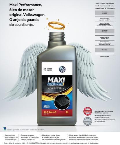 óleo motor sintético 5w40 508 88 maxiperformance original vw