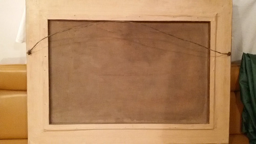 óleo original con marco frances