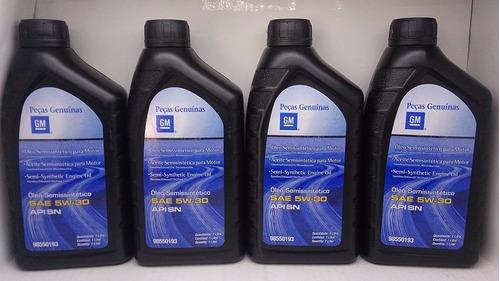 óleo original gm corsa montana meriva 1.4 8v + filtros